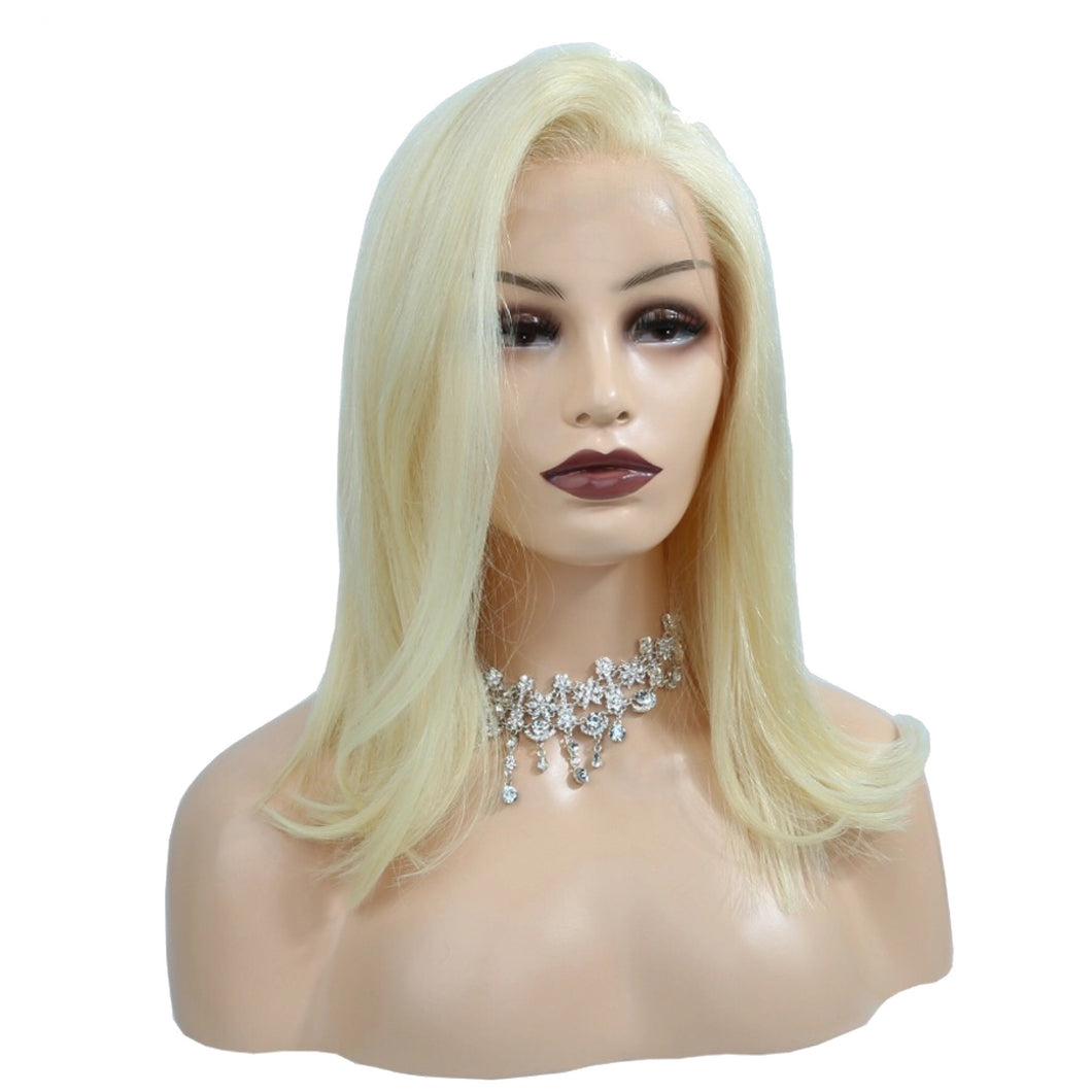 From $60+ | 100% Human Virgin Hair | #613 blonde lace frontal bob wig