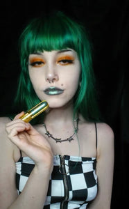 Metallic green liquid matte lipstick | $7.50  Shiny Green lipstick