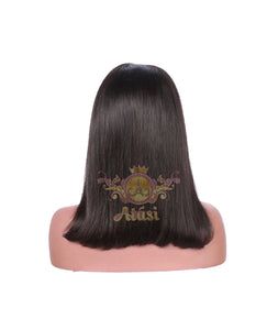 Atási 4x4 lace closure Human hair bob wig