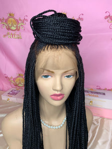 Fatu Braided Lace Frontal wig