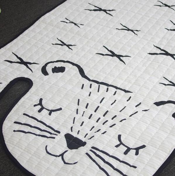 White Tiger Mat - Anti Slip Padded Rug - Just Kidding Store