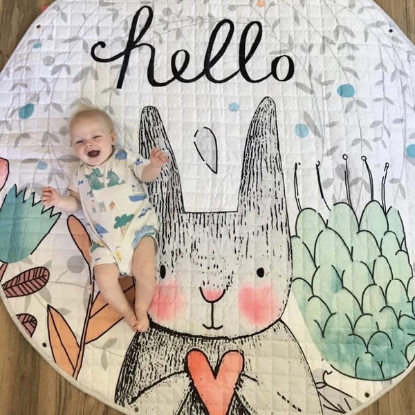 Activity Play Mat Toy Storage Bag Hello Bunny Just Kidding Store