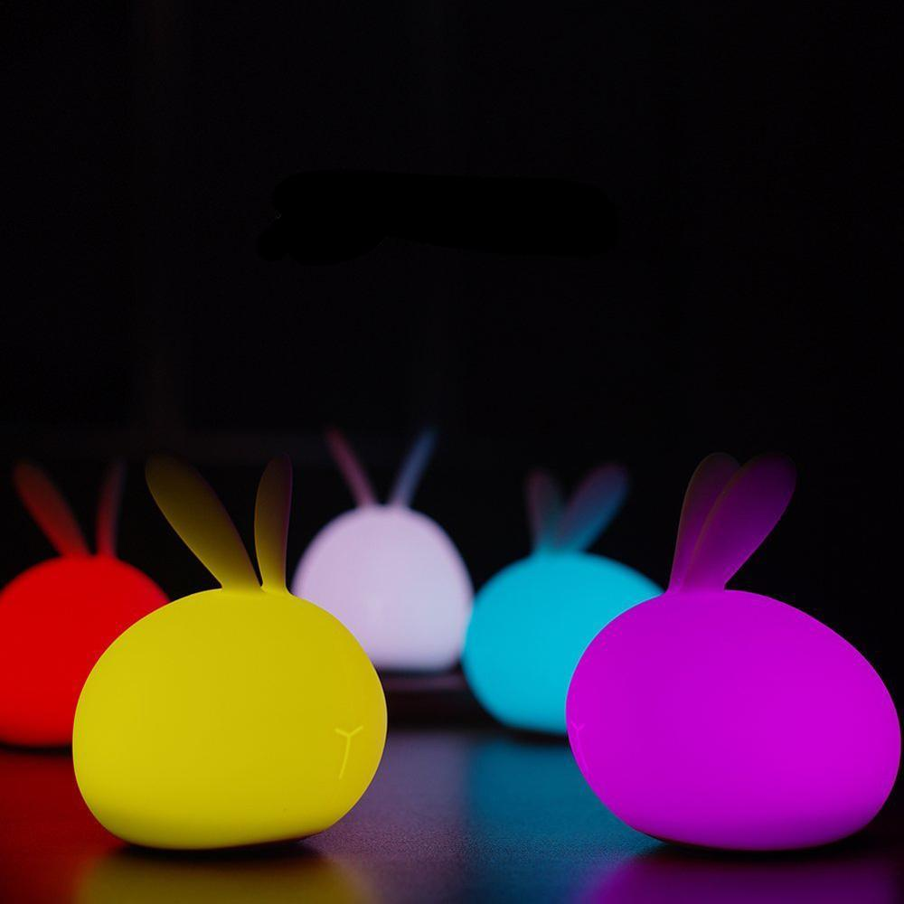 Bunny Night Light Silicone Rabbit Kids Light Just Kidding Store