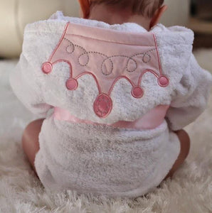 Baby Hooded Bathrobe - Lace Princess - Just Kidding Store