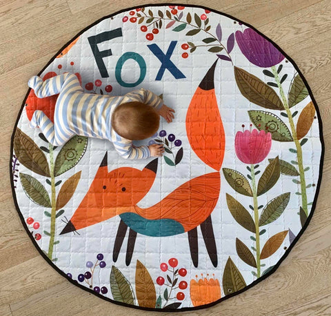 Activity Play Mat - Toy Storage Bag - Red Fox
