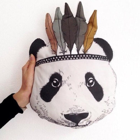 Indian Panda Pillow - Kids Cushion - Just Kidding Store