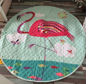 Kids Activity Play Mat Toy Storage Bag - Pink Flamingo - Just Kidding Store