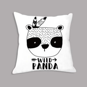 Tribal Wild Panda Nordic Kids Cushion Covers - Just Kidding Store
