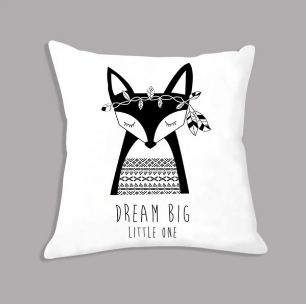Tribal Fox Dream Big Little One Nordic Kids Cushion Covers - Just Kidding Store
