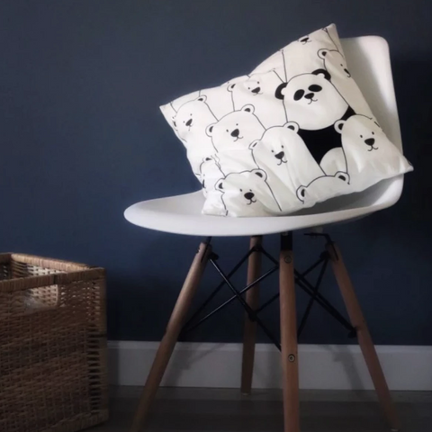 Monochrome Cushion Cover -  Bears, Dogs, Penguins