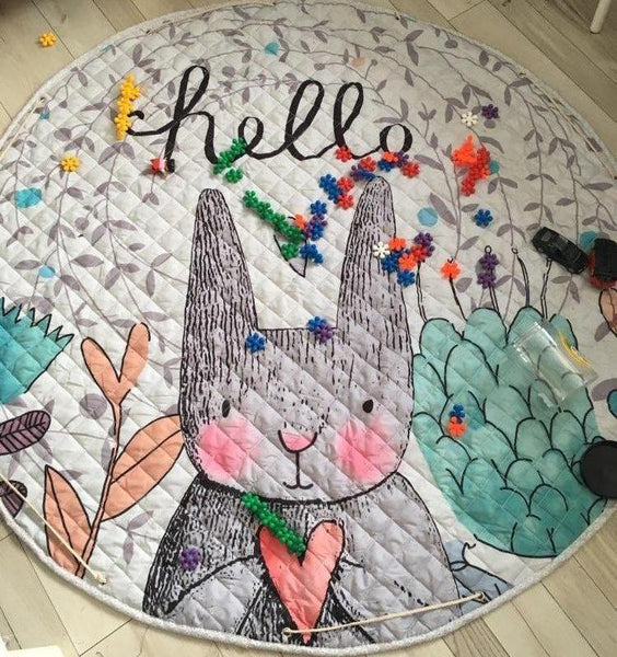 Activity Play Mat - Toy Storage Bag - Hello Bunny - Just Kidding Store