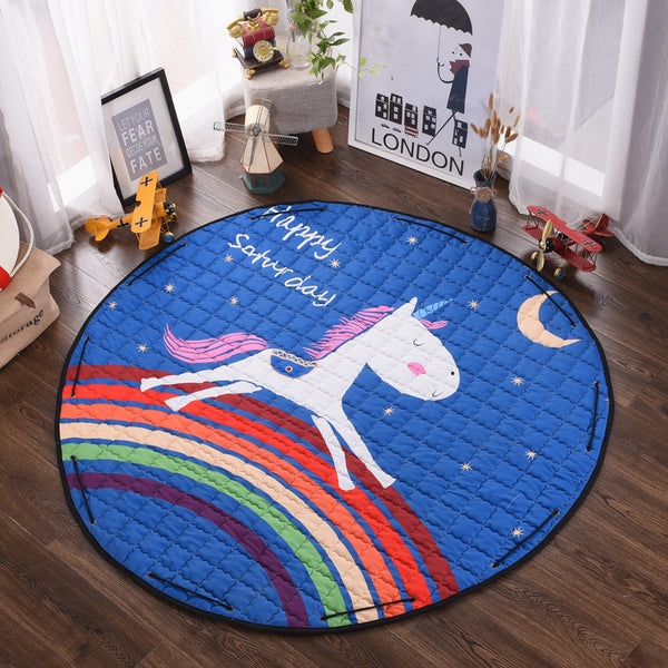 Unicorn Activity Play Mat - Toy Storage Bag Unicorn - Just Kidding Store