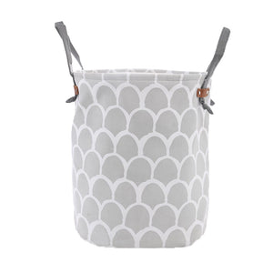 Monochrome Round Toy Storage Basket