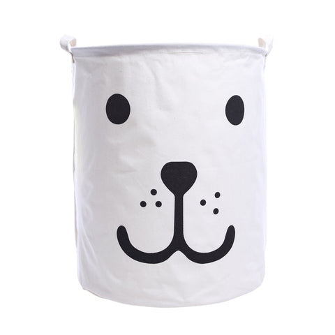 Super Large Toy Storage - Kids Smily Bear Laundry Basket - Just Kidding Store