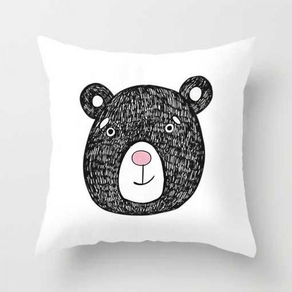 Cartoon Pillow Case - Cat, Rabbit, Bear, Koala, Dog, Raccoon Cushion Cover
