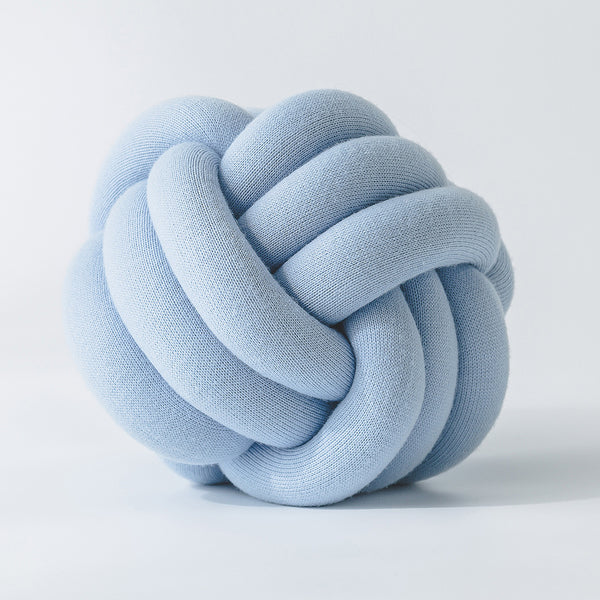 Handmade Light Blue Knot Jersey Pillow - Just Kidding Store