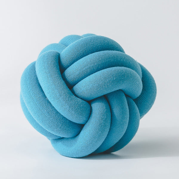 Handmade Blue Knot Jersey Pillow - Just Kidding Store