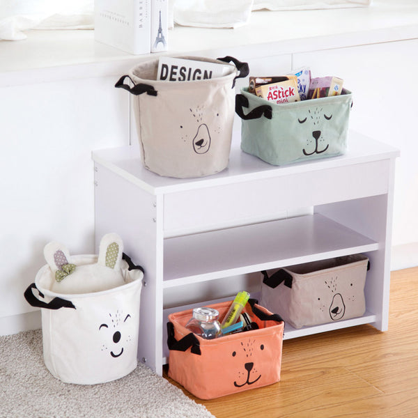 Canvas Storage Box Organizer - Desktop Jute Baskets - Just Kidding Store