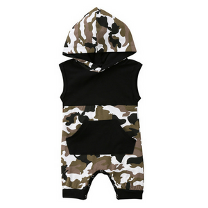 Camouflage Baby and Toddlers Hooded Romper - Just Kidding Store