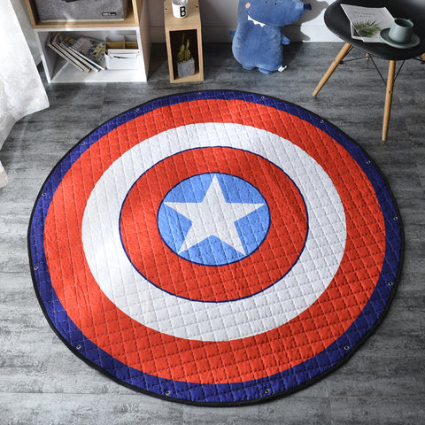 Captain America Shield Activity Play Mat Storage Bag- Just Kidding Store