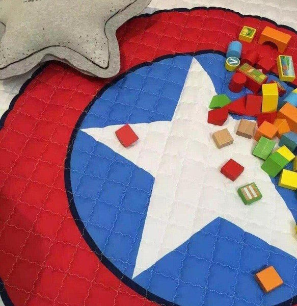 Activity Play Mat - Toy Storage Bag - Captain America Shield