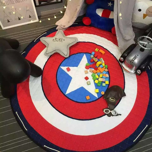 Captain America Shield Antislip Play Mat - Toy Storage - Just Kidding Store