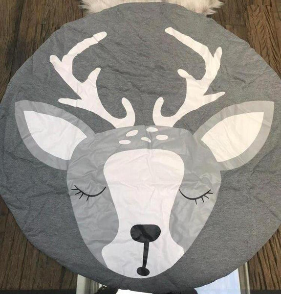 Kids Deer Play Mat - Baby Reindeer Play Mat - Just Kidding Store
