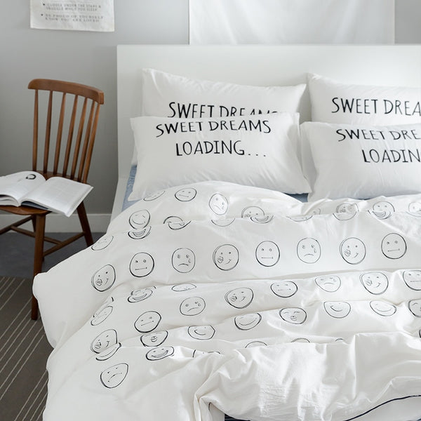 Sweet Dreams Embroidered Kids Boy Girl Bedding Set - Just Kidding Store