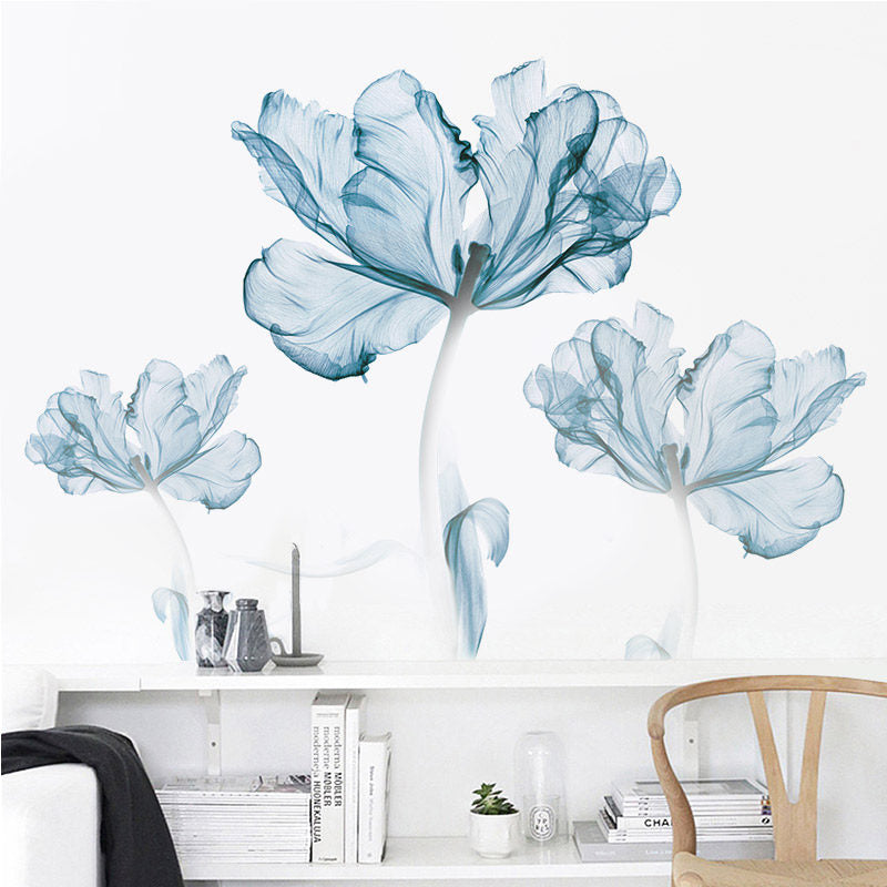 Blue Floral Wall Sticker - Just Kidding Store