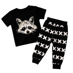 Fox Toddlers and Kids Pajama Set - Just Kidding Store