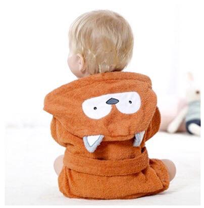 Baby Hooded Bathrobe - Terry Towel - Fox - Just Kidding Store