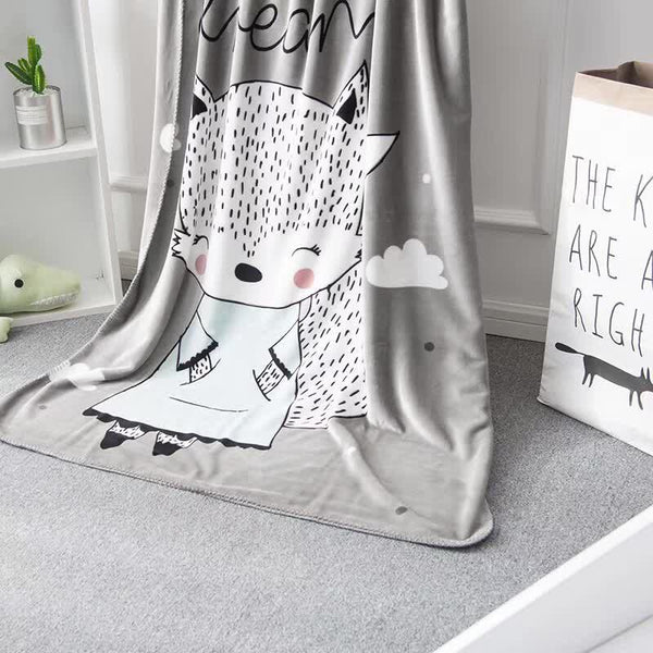 Fox Coral Fleece Baby Kids Childrens Blanket - Just Kidding Store