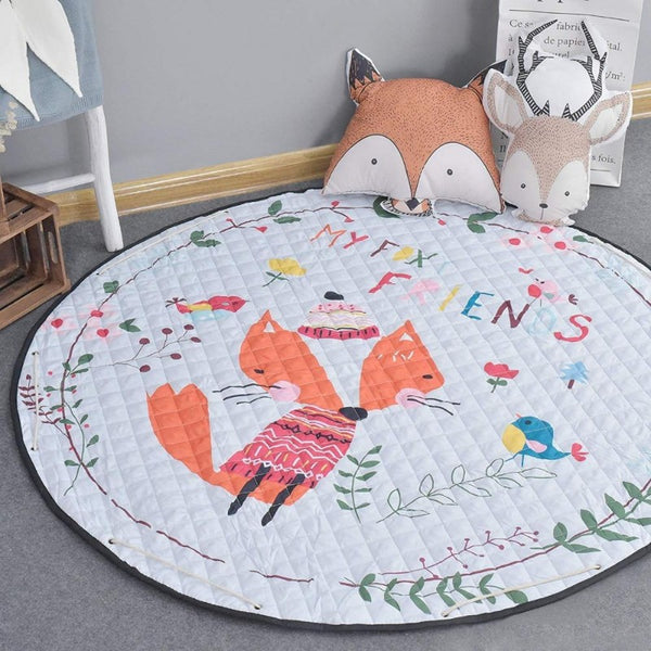 Activity Play Mat - Toy Storage - My Foxy Friends - Just Kidding Store