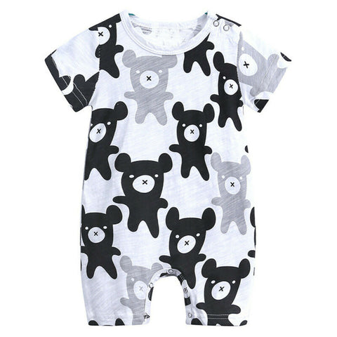 Mini Bear Baby Toddler Kids Summer Romper - Just Kidding Store