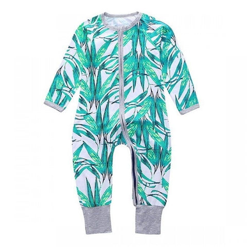 Green Leaves Romper