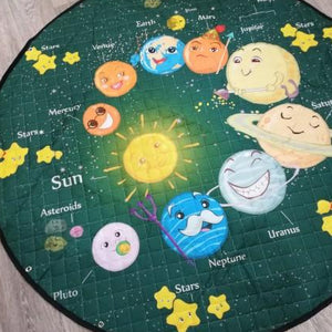 Activity Play Mat - Toy Storage Bag Happy Planets - Just Kidding Store