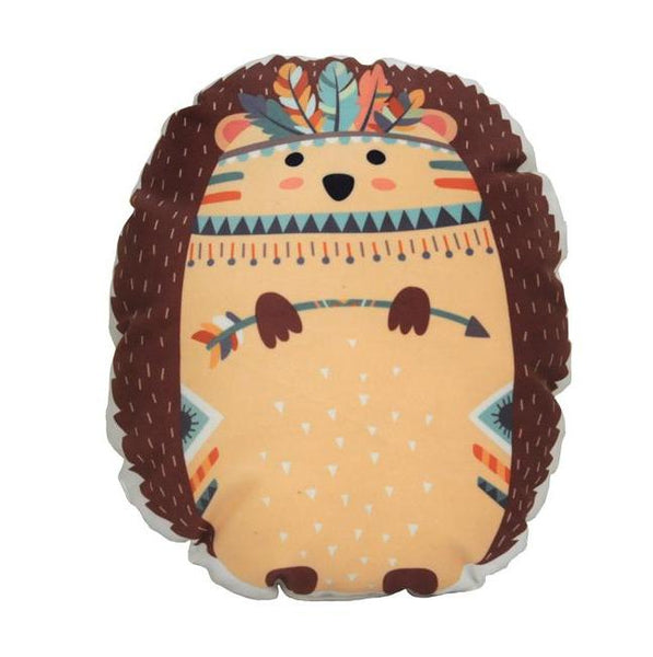 Woodland Animal Kids Cushions - Tribal Pillows - Just Kidding Store Hedgehog