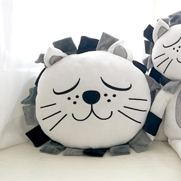 Sleepy Lion Plush Cushion - Lion Stuffed Pillow - Just Kidding Store