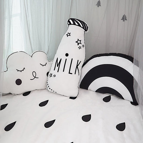 Milk Bottle Plush Cushion - Milk Kids Cushion - Just Kidding Store