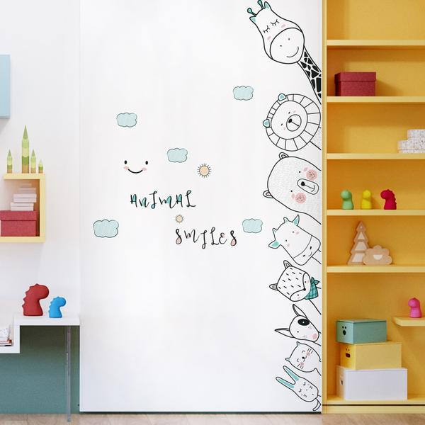 Animal Wall Corner Decal Kids Vinyl Door Sticker - Just Kidding Store