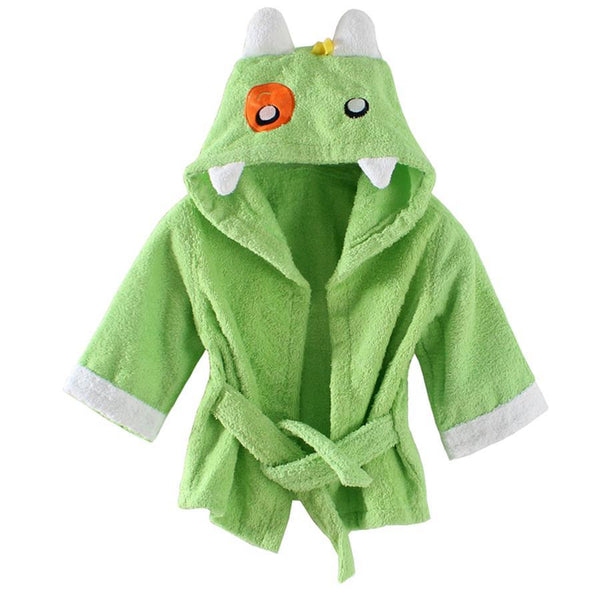 Baby Terry Spa Robe Green Monster - Just Kidding
