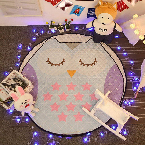 Sleepy Owl Antislip Play Mat Toy Storage - Just Kidding Store