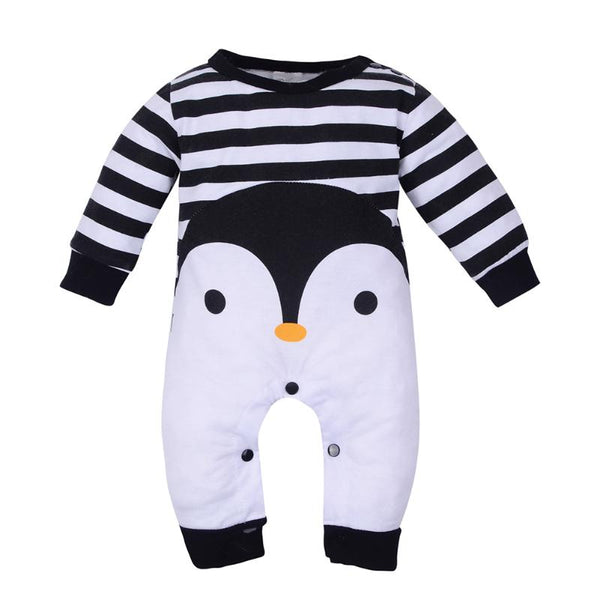 Penguin Romper - Baby and Toddler Jumpsuit - Just Kidding Store