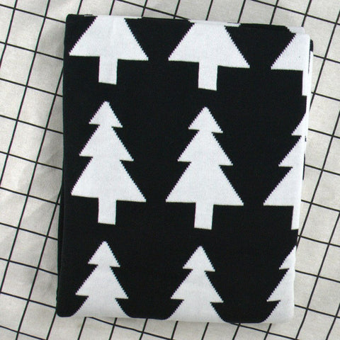 Black Forest Cotton Knitted Kids Blanket - Just Kidding Store