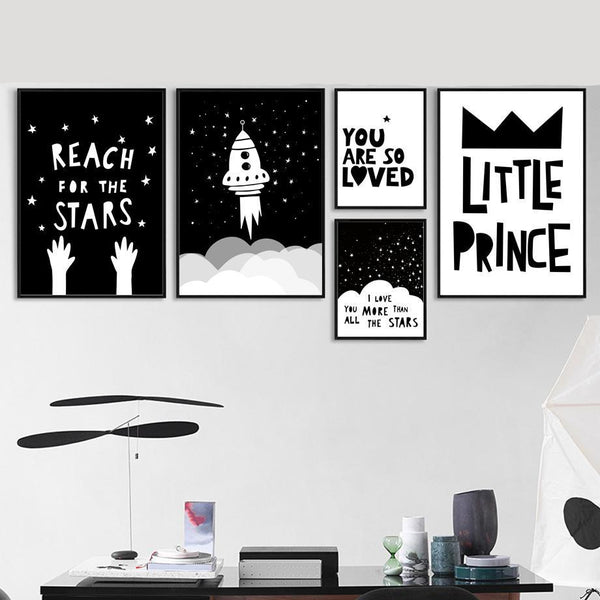 Inspiring Monochrome Canvas Paint - Just Kidding Store