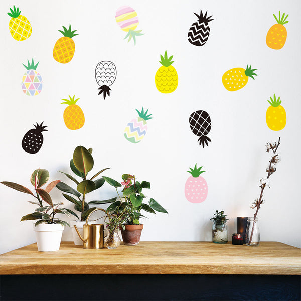 Pineapple Wall Stickers - Ananas Wall Decals - Just Kidding Store