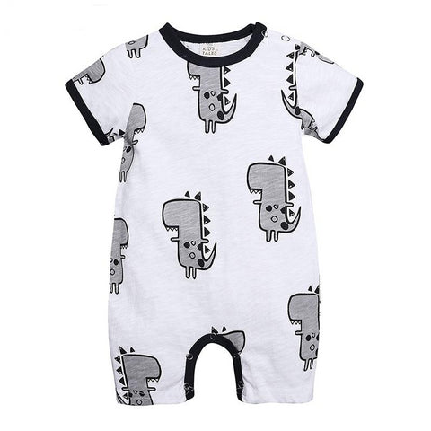 Mini Dinosaur Summer Baby Fashion Trendy Romper - Just Kidding Store