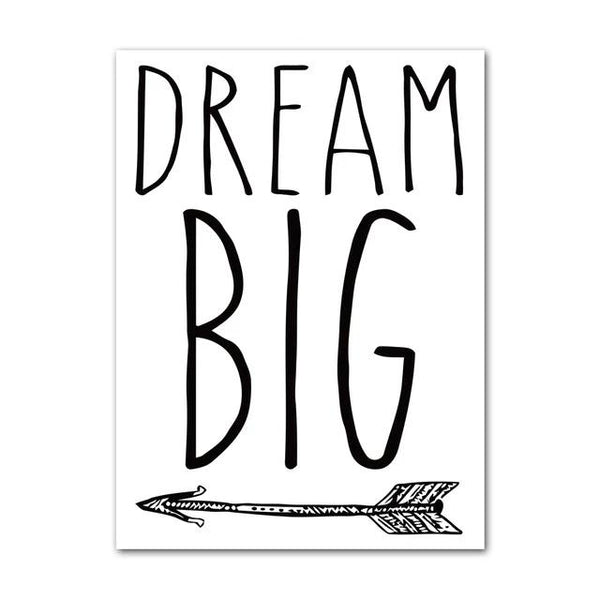 Canvas Wall Art Super Hero, Batman, Big Dream Quotes - Just Kidding Store