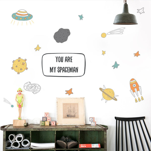 Big Bang Space Wall Sticker - You Are My Spaceman - Just Kidding Store