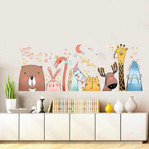 Animal Friends Wall Sticker